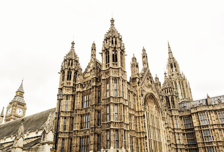 commons: Westminster palace and Big Ben in London. Great Britain. Cultural heritage.