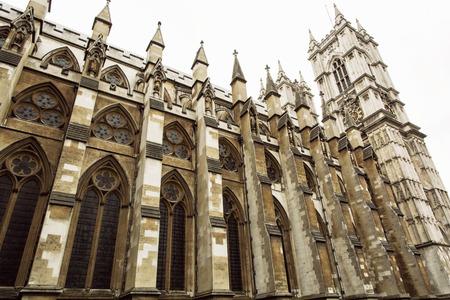 Westminster Abbey, formal die Stiftskirche von St. Peter in Westminster betitelt, ist eine große, vor allem gotische Kirche in der City of Westminster, London. Großbritannien. Touristenziel.