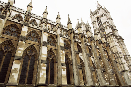 rectilinear: Westminster Abbey, formally titled the Collegiate Church of St Peter at Westminster, is a large, mainly Gothic church in the City of Westminster, London. Great Britain. Tourist destination.