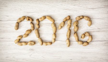 pour feliciter: PF 2016 made from the peanuts. Happy New Year 2016.