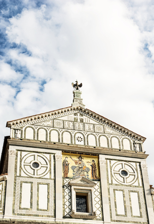 Basilica San Miniato al Monte in Florence, Tuscany, Italy. Cultural heritage. Cradle of the renaissance.
