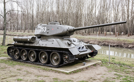 militarily: Soviet medium tank T-34-85 of the World war II. Biggest war campaign of 20th century. Editorial
