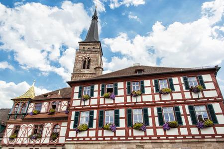 johannes: The church of Saint Johannes and Saint Martin, Schwabach, Bavaria, Germany. Travel destination.