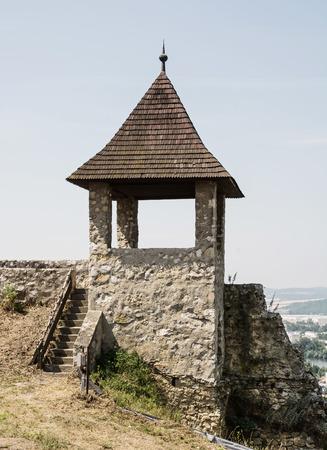 turret: Turret in Trencin castle, Slovak republic. Travelling theme. Editorial