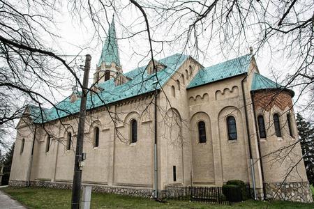 saint stephen cathedral: Roman catholic church of saint Stephen king, Nove Sady village, Slovak republic. Cultural heritage.