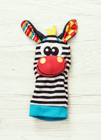 marionette: Funny hand puppet. Beauty toy. Vibrant colors. One marionette. Childhood theme.