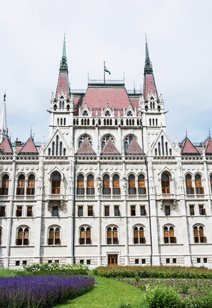 parliament building: Hungarian parliament building, also known as the Parliament of Budapest, Hungary. House of the nation. Cultural heritage. Travel destination. Architectural theme. Vertical composition. Stock Photo