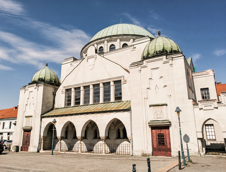 place of worship: Synagogue in Trencin, Slovak republic. Architectural theme. Place for worship. Religious architecture.