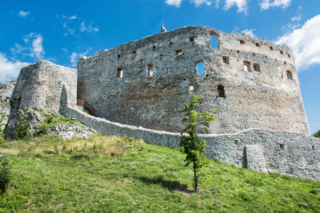 central europe: Ruin castle of Topolcany, Slovak republic, central Europe. Ancient architecture. Beautiful place. Travel destination. Editorial