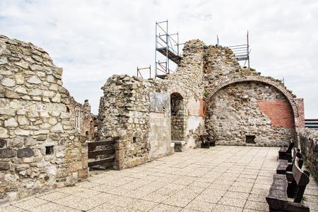 visegrad: Ruin castle of Visegrad, Hungary. Ancient architecture. Travel destination. Cultural heritage. Beautiful place.