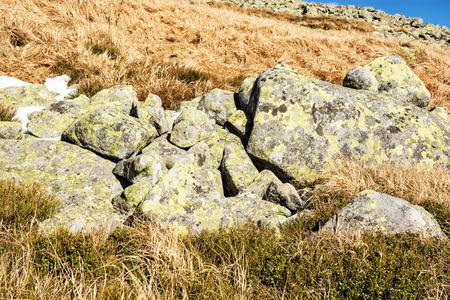 Big stones, Chopok, Low Tatras, Slovak republic. Hiking theme. Beauty in nature.