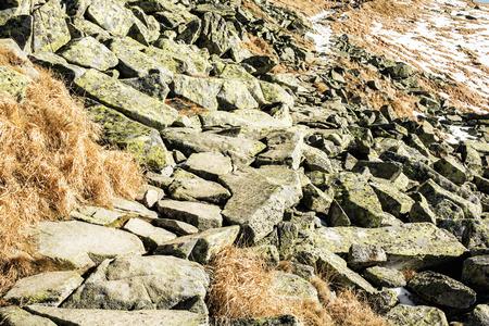 Big stones, Chopok, Low Tatras, Slovak republic. Beauty in nature. Hiking theme.
