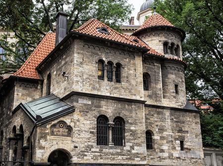 jewry: Jewish ceremonial hall in Prague near the Klausen synagogue, Czech republic. Architectural theme. Religious architecture. Travel destination.