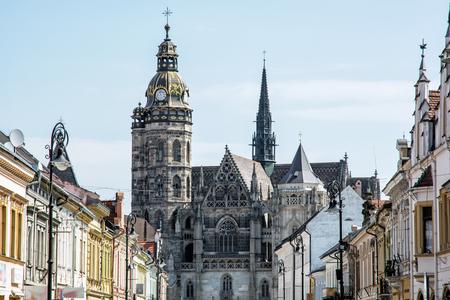 Spectacular St. Elisabeth cathedral in Kosice, Slovak republic. Architectural scene. Travel destination. Banque d'images