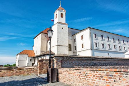 Spilberk castle in Brno, Moravia, Czech republic. Travel destination. Architectural scene. Beautiful place.