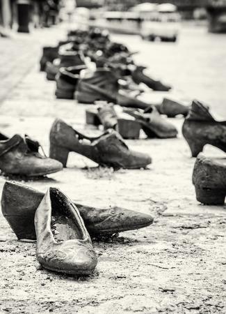 Schuhe Denkmal Am Ufer Der Donau Ist Ein Denkmal In Budapest Ungarn