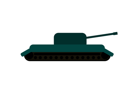 Military tank illustration. Object illustration.
