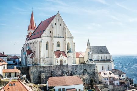 St. Nicholas Deanery church, Znojmo, southern Moravia, Czech republic. Religious architecture. Travel destination.