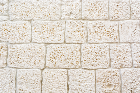 Stoned background, detail of building in Trogir, Croatia. Architectural theme. Stock Photo