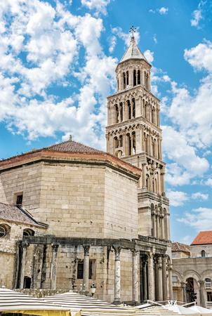 Cathedral of Saint Domnius in Split, Croatia. Religious architecture. Travel destination. Stok Fotoğraf