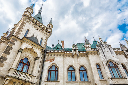 Detail of Jakab's palace in Kosice city, Slovak republic. Architectural scene. Travel destination.