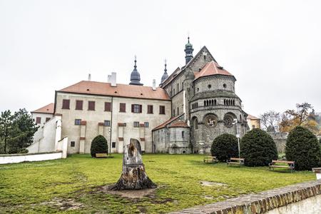 St. Procopius Basilica is a Romanesque-Gothic Christian church in Trebic, Czech republic. Religious architecture. Travel destination. 写真素材