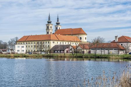 Basilica minor in Sastin-Straze, Slovak republic. Religious architecture. Travel destination. Pilgrim site.