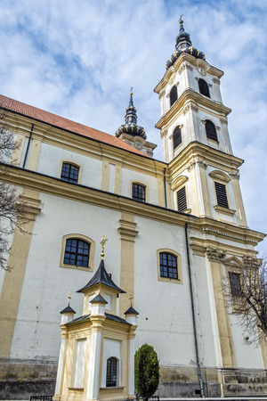 Basilica minor in Sastin-Straze, Slovak republic. Religious architecture. Travel destination. Pilgrim site.