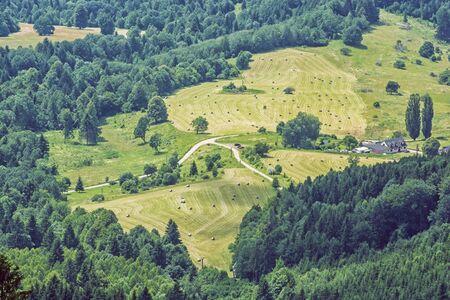 Countryside from Hrb hill, Vepor, Slovak republic. Seasonal natural scene. Travel destination.