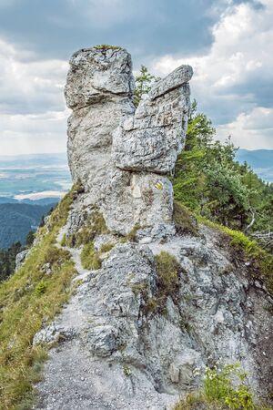 Under Ostra peak in Big Fatra and Turiec basin, Slovak republic. Seasonal natural scene. Travel destination.