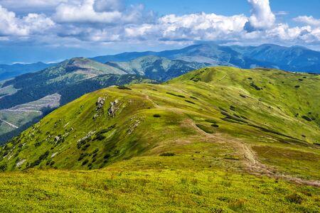 View from Velka Chochula peak to Little Chochula, Low Tatras, Slovak republic. Seasonal natural scene. Travel destination.
