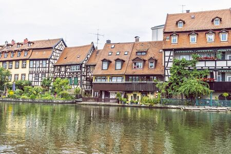 Fishing district Little Venice in Bamberg, Bavaria, Germany. Travel destination. Architectural theme. Stock Photo