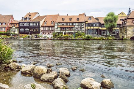 Fishing district Little Venice in Bamberg, Bavaria, Germany. Travel destination. Architectural theme. Stockfoto