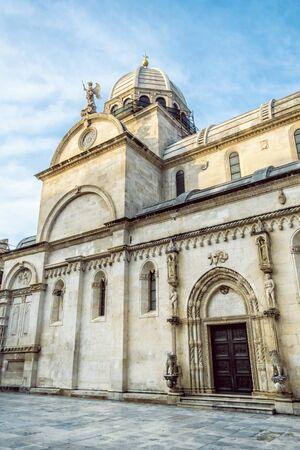 Cathedral of St. James - Katedrala sv. Jakova in Sibenik, Croatia. Travel destination. Religious architecture.