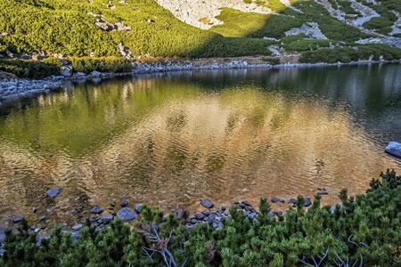 Velicky tarn, High Tatras mountains, Slovak republic. Hiking theme. Travel destination.