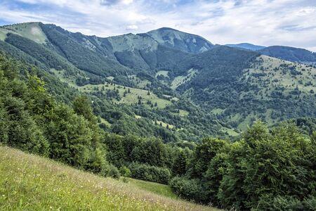 Big Fatra mountains, Slovak republic. Seasonal natural scene. Travel destination. Hiking theme. Stockfoto