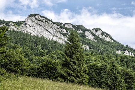 Black Stone hill in Big Fatra, Slovak republic. Seasonal natural scene. Travel destination. Hiking theme.