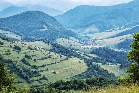 Big Fatra mountains, Liptovske Revuce village, Slovak republic. Seasonal natural scene. Travel destination. Hiking theme. Stockfoto