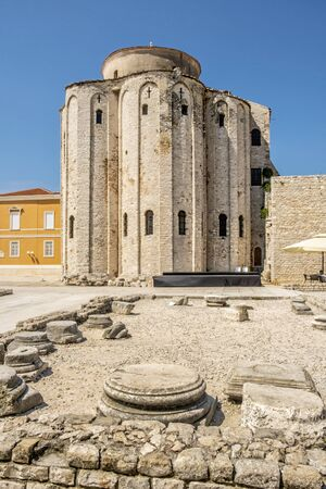 Church of St. Donatus, Zadar, Croatia. Travel destination. Religious architecture. Stockfoto