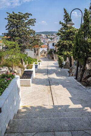 Primosten town, Croatia. Travel destination. Beautiful place. Stock Photo