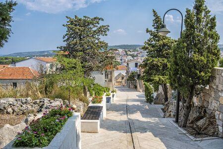 Primosten town, Croatia. Travel destination. Beautiful place.
