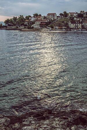 Stomorska, Solta island, Croatia. Travel destination. Summer vacation.