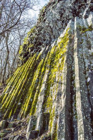 Stone waterfall, Somoska, Siatorska Bukovina, Slovak republic. Travel destination. Tourist attraction.