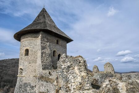 Somoska castle ruins, Slovak republic. Travel destination. Architectural theme.