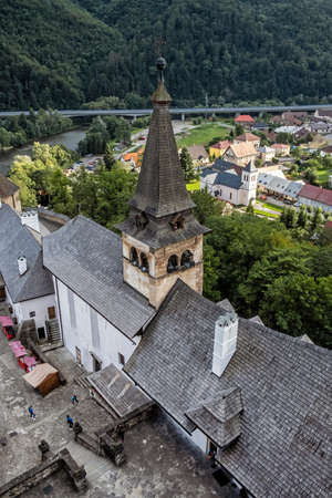 Orava castle ruins, Slovak republic. Travel destination. Architectural theme. 版權商用圖片