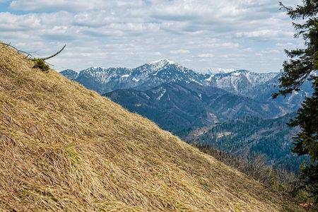 Rakytov hill, Big Fatra mountains, Slovak republic. Seasonal natural scene. Hiking theme.