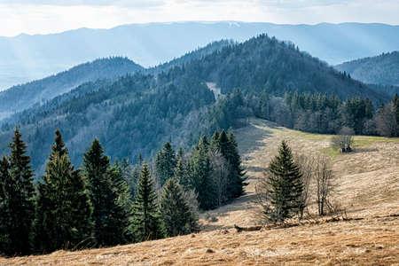 Big Fatra mountains scenery, Slovak republic. Seasonal natural scene. Travel destination. Hiking theme. Standard-Bild