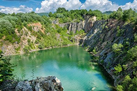 Benatina lake, Slovak republic. Seasonal natural scene. Travel destination.