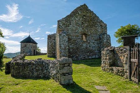 Ruins of Hussite church in Lucka village, Slovak republic. Religious architecture. Travel destination.
