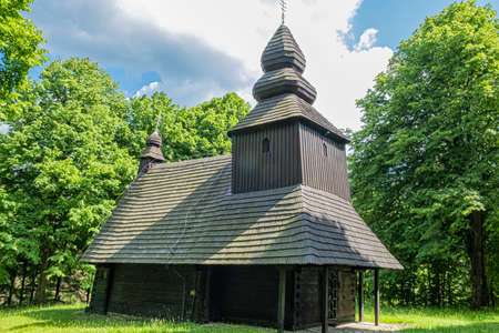Church of the relics of St. Nicholas bishop, Ruska Bystra village, Slovak republic. Architectural theme. Travel destination.